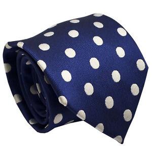 55094034e893e Silk Blue Polka Men Tie With Wedding Office Party Formal Occasion Men  Necktie