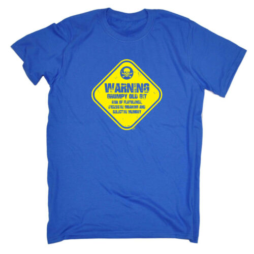 Divertenti Novità T-Shirt UOMO Tee T-Shirt-Avvertenza scontroso OLD GIT