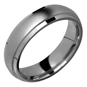 Image Is Loading Mens Anium Ring 6mm Wide Comfort Fit Promise