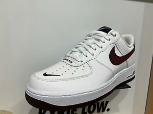Détails sur Nike Air Force 1 Low Swoosh PACK WHITE NIGHT Maroon Obsidian SZ 8 13 CJ8731 100 afficher le titre d'origine