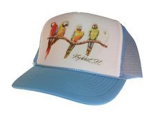 Florida Key West hat Trucker Hat Mesh Hat light blue new Parrot vacation hat
