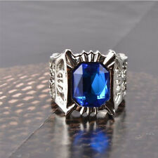 HOT Anime Black Butler Ciel Phantomhive Blue Crystal Ring Cosplay Costume Props