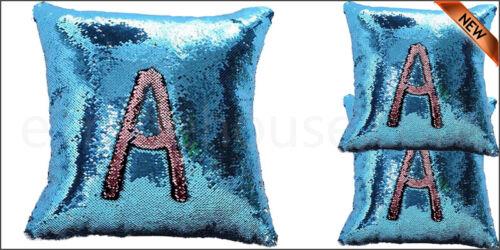 "16/"" magic mermaid Taie d/'oreiller réversible Sequin Paillettes Sofa Cushion Cover Touch"