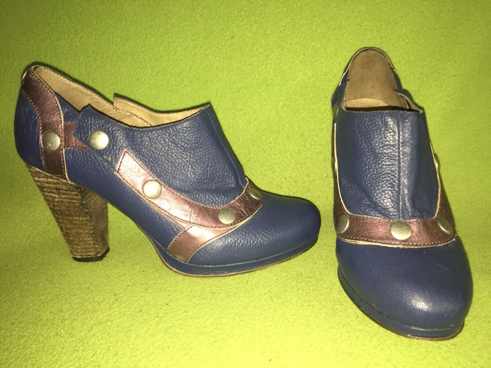 bluee & Purple DKODE Heels with Removable Snap-On Tops 9 40