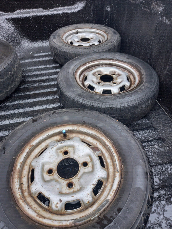 Various rims and tyres