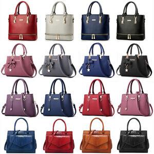 Women-Lady-Leather-Handbag-Shoulder-Bag-Crossbody-Satchel-Messenger-Purse-Tote
