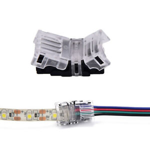 15 pcs 4pin led strip to wire connectors 10mm tape light connector image is loading 1 5 pcs 4pin led strip to wire aloadofball Images