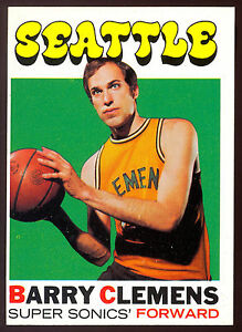1971-72-TOPPS-BASKETBALL-119-BARRY-CLEMENS-NM-SEATTLE-SUPERSONICS-CARD
