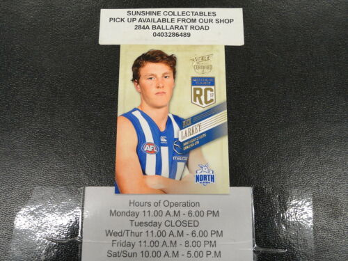 2017 AFL SELECT CERTIFIED ROOKIE CARD RC73 NICK LARKEY NORTH MELBOURNE 198220