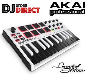 Details about Akai MPK Mini Mk2 - MIDI USB Compact Controller Keyboard  Limited Edition White