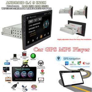 1DIN-9-034-Android-8-1-Car-Sat-Nav-GPS-Head-Unit-Wifi-Audio-MP5-Player-Stereo-Radio