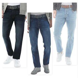 1b76d29fba Men s New CROSSHATCH Straight Leg Jeans Size W30-32-34-36-38-40 ...