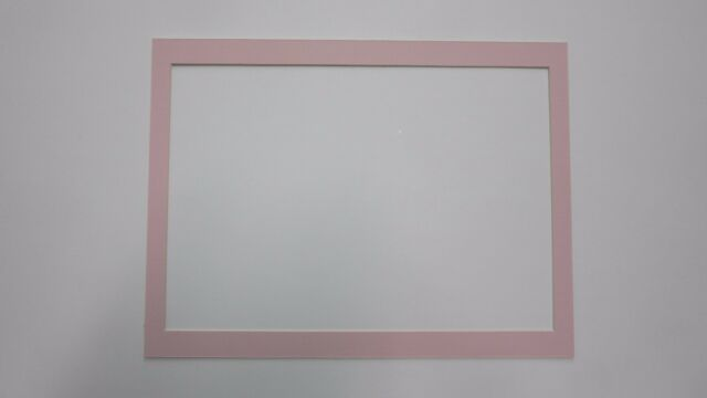Picture Framing Mats 12x16 For 10x145 Custom Mat Pink Color Ebay