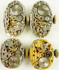 Lot of 4 Hamilton Lady's Wristwatch Movements, 721, 721, 750, 780  - All Running