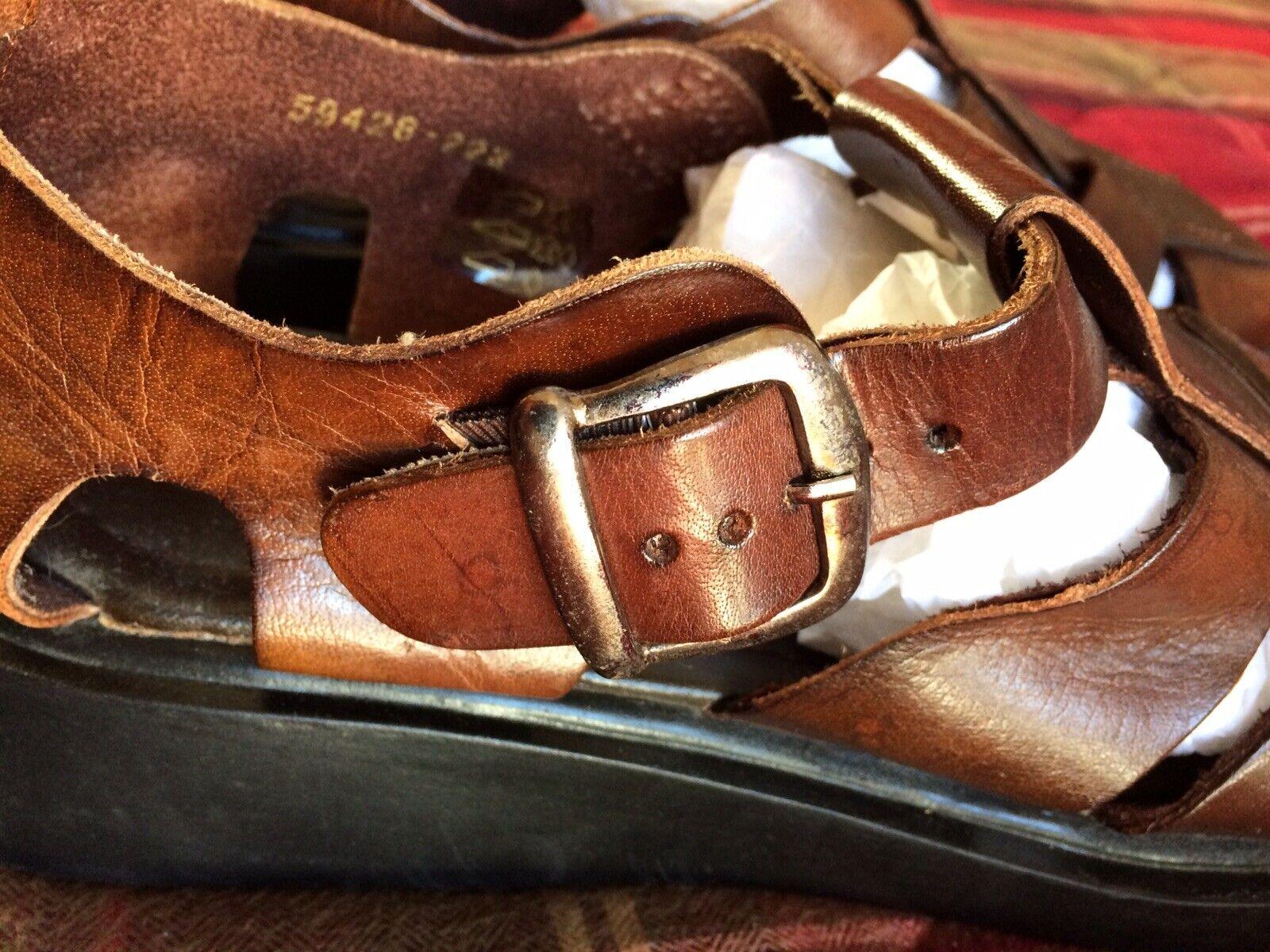 CASTAWAY Mens Leather Gladiator Sandals Brown UK 8