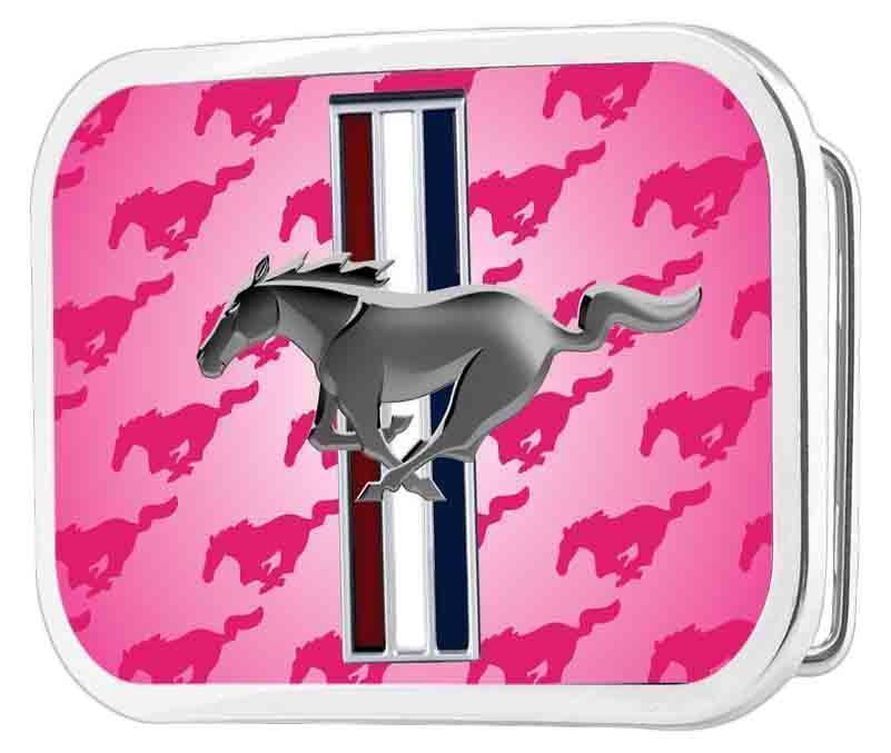 FORD MUSTANG Gürtelschnalle Original Produkt USA Logo Muscle Car V8 Shelby pink