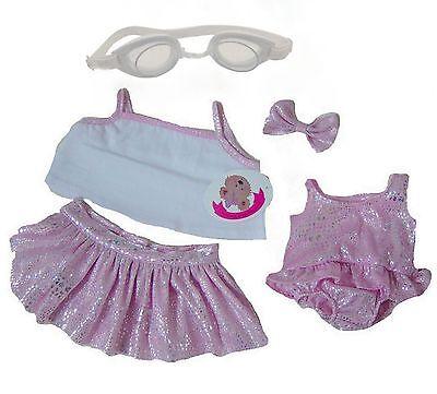 Teddy Bear Clothes fits Build a Bear Teddies Sparkle Beach Set Swim & Goggles