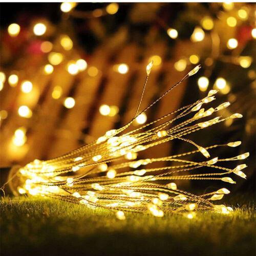 200LED Solar//Battery 8Mode Hanging Starburst Fireworks Fairy String Light PartyZ