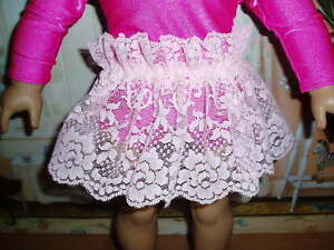 Light-Pink-Lace-Tutu-18-034-Doll-Clothes-fits-American-Girl-Handmade