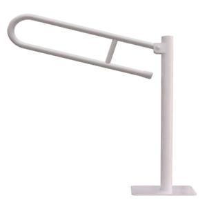 WC Klappgriff für barrierefreies Bad Griff freistehend 70 cm ⌀ 25 mm weiß