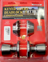Mobile Home Entrance Door Lock W/deadbolt Keyed Alike Stainless Steel 4 Keys