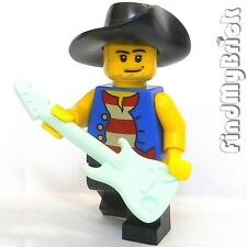 M009B Lego Guitar Singer Minifigure Player with Music Instrument NEW
