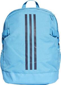 adidas 3 Stripe Power Medium Backpack - Blue 4059812373068  325a3485ef639