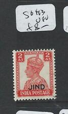 INDIA JIND  (P2308B)  KGVI  2A  SG 143  VFU