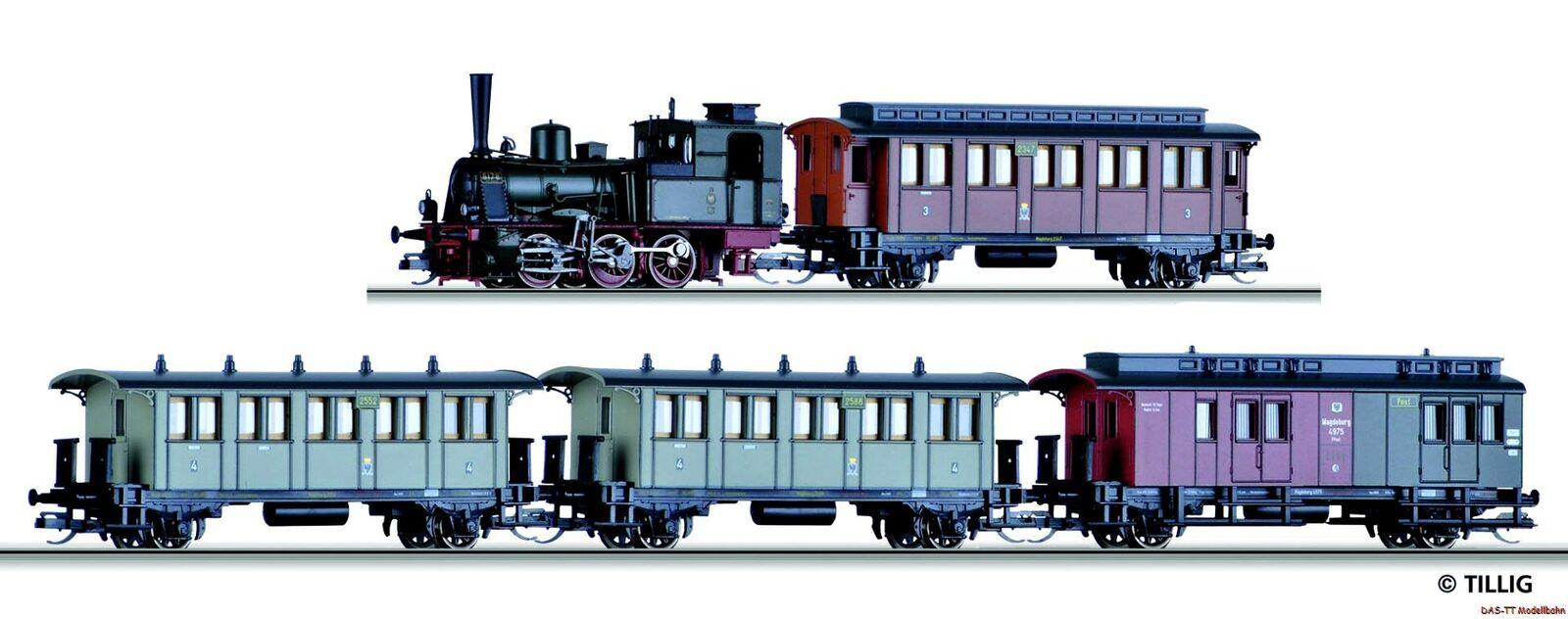 TT viajeros-set 4 vagones + br89 kpev EP. I Tillig 01720 nuevo