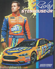 "2017 RICKY STENHOUSE JR ""SUNNY D"" #17 NASCAR MONSTER ENERGY CUP POSTCARD"