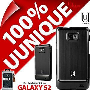 New-Uunique-Hard-Case-For-Samsung-Galaxy-i9100-S2-SII-Cover-Aluminium-Black