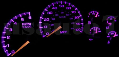 NEW Dash Cluster Gauges PINK LED LIGHTS KIT Fits 99-02 Chevy Silverado 1500 2500