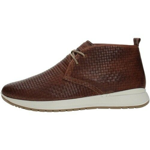 Shoes IgieCo 1120133 Man colour sheepskin matt leather ankle boot sneakers