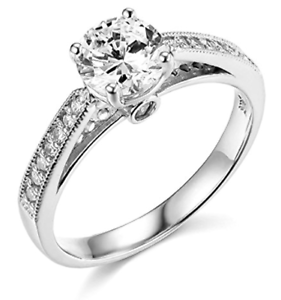 2-Ct-Round-Cut-Engagement-Wedding-Ring-Cathedral-Setting-Solid-14K-White-Gold