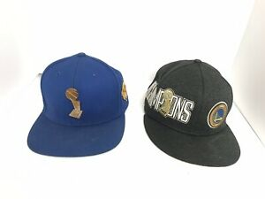 5df9316c51ef8 2 New Golden State Warriors 2018 NBA Finals Championship Hats. One ...