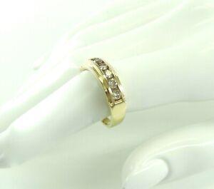 Vintage Damenring 585er 14 Karat Gold mit Diamanten ca. 0,70ct ( 63 (20,0 mm Ø)*