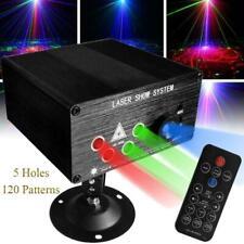 5 Hole 120 Muster RGB Laser Projektor Disco Bühnenbeleuchtung Lichteffekt Lampen