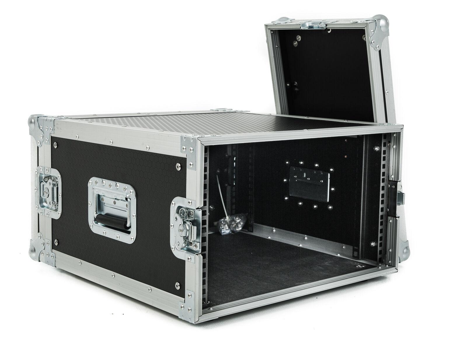 6u Shallow Rack Flight Case - 300mm Deep - Fast Shipping.