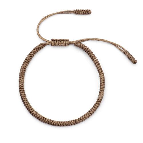 Eg /_1 PC Unisexe Tendance Bijou Cadeau Porte Bonheur Corde Tressé Bracelet