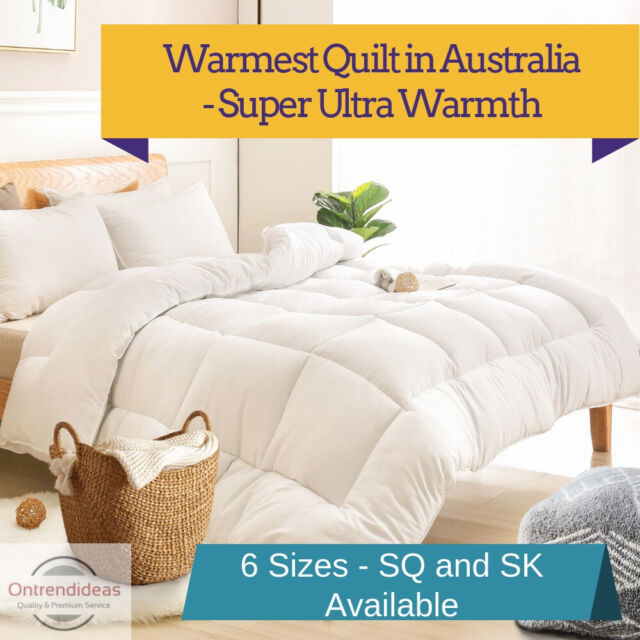 Ramesses 1000GSM Ultra-Warm Premium Winter Quilt | Microfibre Warm Doona SQ,SK