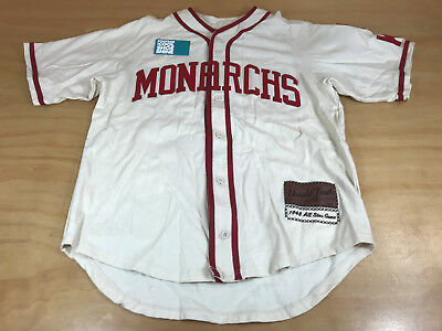 timeless design 8d381 3e7e7 NIKE UNTOLD TRUTH 1948 ALL STAR NEGRO LEAGUE KC MONARCHS BASEBALL JERSEY  CREAM M | eBay
