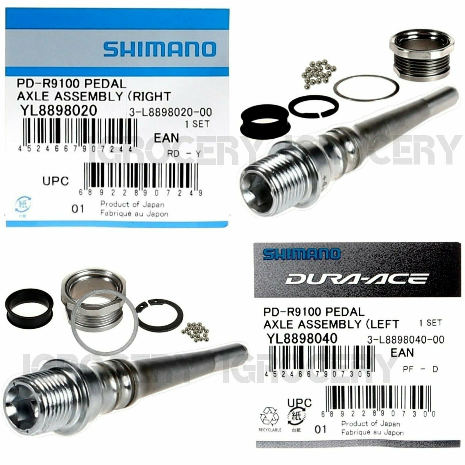 Shimano  Dura-Ace SPD-SL PD-R9100 Pedal +4mm Axle Longer Assembly Left Right Pair  not to be missed!
