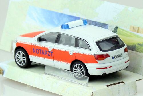 Cast Audi q7 ambulancia nef 1:43 Cararama maqueta de coche la//