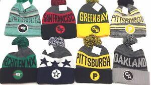 ddb49602d96ad Beanie POM POM Football Skull Sport SKI Cap KNIT Hat Winter Wear NEW ...