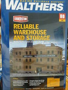 "Walthers Cornerstone HO #3014 Reliable Warehouse & Storage - Kit -- 10-5/8"" Back"