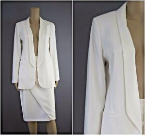 ex-Jacques-Vert-Ivory-Long-Line-Tuxedo-Jacket-Skirt-Suit-RRP218-Occasion-Wedding