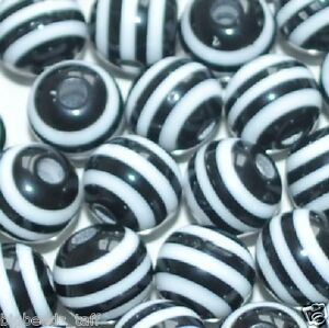 100pcs cube blue and white striped resin beads 8mm by 1st class
