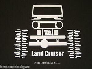 Toyota Land Cruiser Fj40 80 Crawler Sticker Decal 13 Ebay