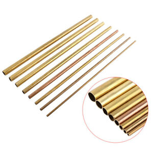 Brass Tube Pipe Tubing Round Bar Rod Long 48-48-50cm Wall 1mm Tube Pipe 6mm-20mm