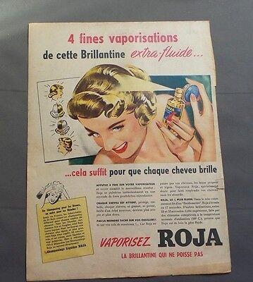 Publicité ancienne brillantine Roja 1947 issue de magazine